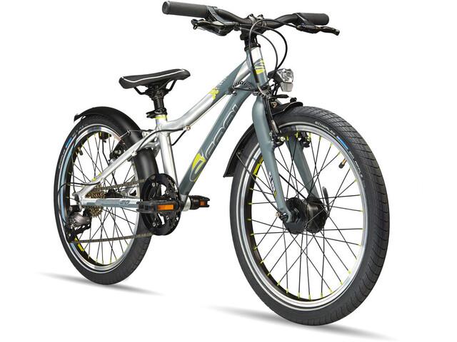 s'cool XXlite elite 20 9-S Børnecykel grå/sølv | City-cykler